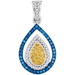 0.25CT Diamond Micro-Pave 10KT Pendant White Gold