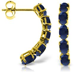 2.5 ctw Sapphire Earrings Jewelry 14KT Yellow Gold