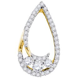 0.25CT Diamond Anniversary 10KT Pendant Yellow Gold