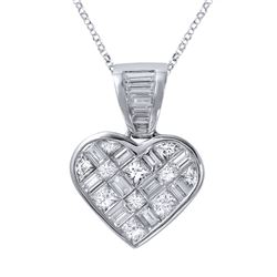 Genuine 5.16 TCW 14K White Gold Ladies Necklace - REF-451K6R
