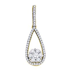 0.50CT Diamond Anniversary 10KT Pendant Yellow Gold