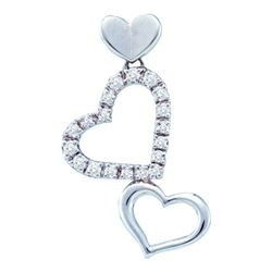 0.20CT Diamond Heart 14KT Pendant White Gold
