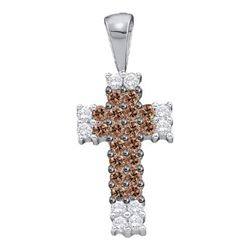 0.25CT Diamond Cross 14KT Pendant White Gold