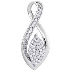 0.10CT Diamond Micro-Pave 10KT Pendant White Gold