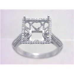 Genuine 14K White Gold 0.31CTW Diamond Semi Mount Ring - REF-45Z2T