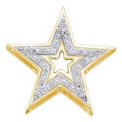 0.05CT Diamond Star 10KT Pendant Yellow Gold