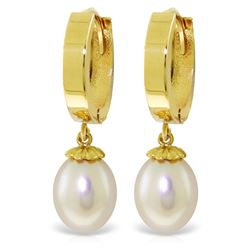8 ctw Pearl Earrings Jewelry 14KT Yellow Gold