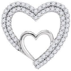 0.50CT Diamond Heart 10KT Pendant White Gold