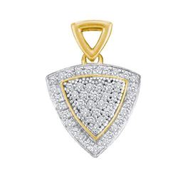 0.02CT Diamond Micro-Pave 10KT Pendant Yellow Gold