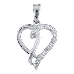 0.03CT Diamond Heart 10KT Pendant White Gold
