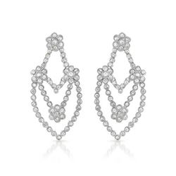 Genuine 2.09 TCW 14K White Gold Ladies Earring - REF-196R6H