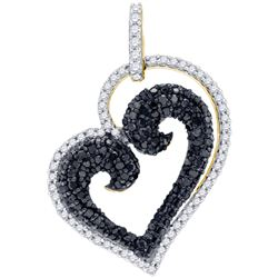0.85CT Diamond Heart 10KT Pendant Yellow Gold