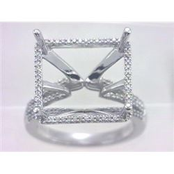 Genuine 14K White Gold 0.28CTW Diamond Semi Mount Ring - REF-62T4K