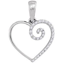 0.10CT Diamond Heart 10KT Pendant White Gold