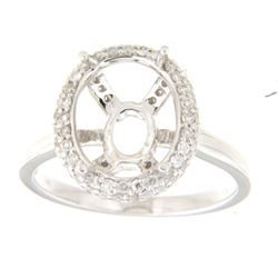 Genuine 14K White Gold 0.42CTW Diamond Semi Mount Ring - REF-63G2M