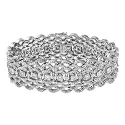 Genuine 7.46 TCW 18K White Gold Ladies Bracelet - REF-975K3R