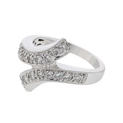 Genuine 14K White Gold 0.52CTW Diamond Fashion Ring - REF-91A9X