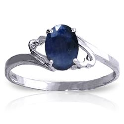 1 ctw Sapphire Ring Jewelry 14KT White Gold