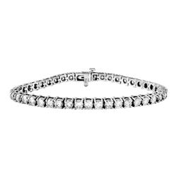 Genuine 8.15 TCW 14K White Gold Ladies Bracelet - REF-882W2G
