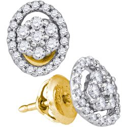 0.50CT Diamond Anniversary 10KT Earrings Yellow Gold