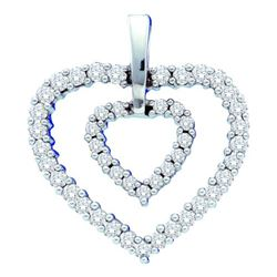 0.50CT Diamond Heart 14KT Pendant White Gold