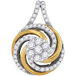 0.50CT Diamond Anniversary 10KT Pendant 2Tone Gold