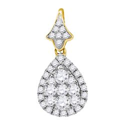 0.75CT Diamond Anniversary 14KT Pendant Yellow Gold