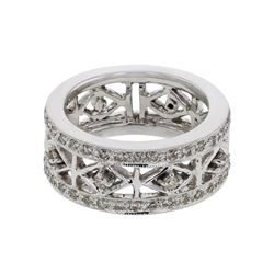 Genuine 14K White Gold 0.41CTW Diamond Fashion Ring - REF-86K5R