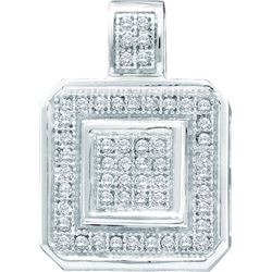 0.15CT Diamond Micro-Pave 10KT Pendant White Gold