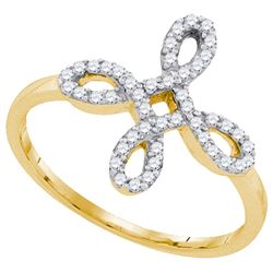0.02CT Diamond Anniversary 10KT Ring Yellow Gold