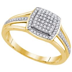 0.25CT Diamond Micro-Pave 10KT Ring Yellow Gold