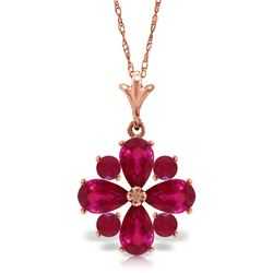 2.23 ctw Ruby Necklace Jewelry 14KT Rose Gold