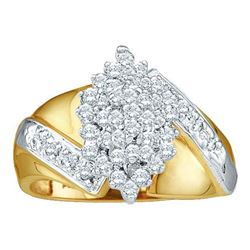 0.50CT Diamond Cluster 14KT Ring Yellow Gold