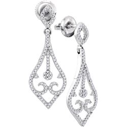 0.33CT Diamond Anniversary 10KT Earrings White Gold