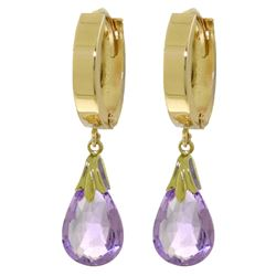 6 ctw Amethyst Earrings Jewelry 14KT Yellow Gold