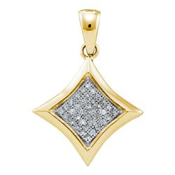 0.10CT Diamond Anniversary 10KT Pendant Yellow Gold