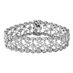 Genuine 6.55 TCW 18K White Gold Ladies Bracelet - REF-708G2M