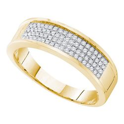 0.25CT Diamond Mens 10KT Ring Yellow Gold