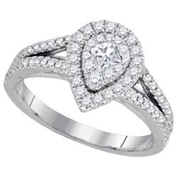 0.75CT Diamond Monaco 14KT Ring White Gold