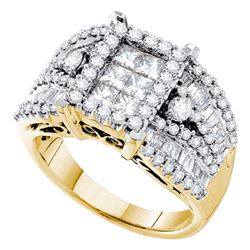 2.0CT Diamond Invisible 14KT Ring Yellow Gold