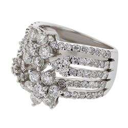 Genuine 18K White Gold 2.61CTW Diamond Fashion Ring - REF-313A3X