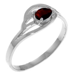 0.30 CTW Garnet Ring Jewelry 14KT White Gold