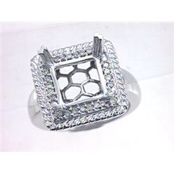 Genuine 14K White Gold 0.27CTW Diamond Semi Mount Ring - REF-72A6X