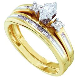0.25CT Diamond Bridal 14KT Ring Yellow Gold