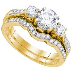 1.0CT Diamond Bridal 14KT Ring Yellow Gold
