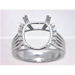 Genuine 14K White Gold 0.09CTW Diamond Semi Mount Ring - REF-66Y8Z