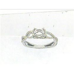 Genuine 14K White Gold 0.43CTW Diamond Semi Mount Ring - REF-53N6A