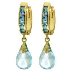 6.85 ctw Blue Topaz Earrings Jewelry 14KT Yellow Gold
