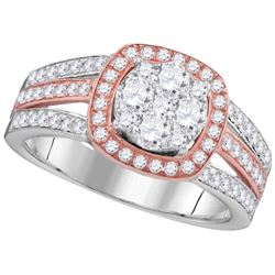 1CT Diamond Anniversary 14KT Ring White Gold