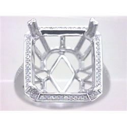Genuine 14K White Gold 0.22CTW Diamond Semi Mount Ring - REF-51R5H